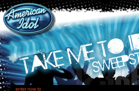 American Idol + Samsung contest landing page